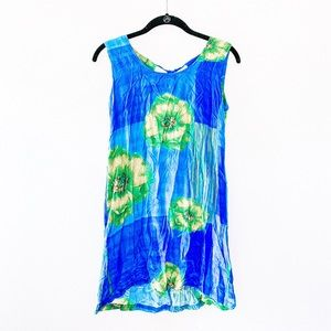 Jams World Hawaii Brooks Blue Floral Keyhole Tunic